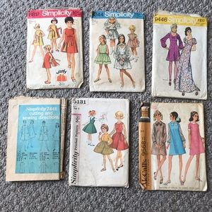 Simplicity McCall's vintage sewing patterns dress